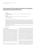 "Báo cáo hóa học: "" Time-Scale and Time-Frequency Analyses of Irregularly Sampled Astronomical Time Series"""