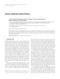 "Báo cáo hóa học: ""Active Optical Lattice Filters"""