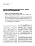 """Báo cáo hóa học: """"Radio Frequency Interference Suppression for Landmine Detection by Quadrupole Resonance"""""""
