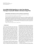 """Báo cáo hóa học: """" From MIMO-OFDM Algorithms to a Real-Time Wireless Prototype: A Systematic Matlab-to-Hardware Design Flow"""""""