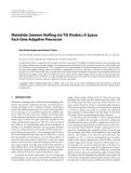 "Báo cáo hóa học: "" Mainlobe Jammer Nulling via TSI Finders: A Space Fast-time Adaptive Processor"""