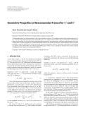 "Báo cáo hóa học: "" Geometric Properties of Grassmannian Frames for R2 and R3"""