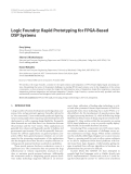 """Báo cáo hóa học: """" Logic Foundry: Rapid Prototyping for FPGA-Based DSP Systems"""""""