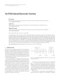 "Báo cáo hóa học: "" An FPGA-Based Electronic Cochlea"""