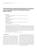 """Báo cáo hóa học: """" A Methodology for Rapid Prototyping Peak-Constrained Least-Squares Bit-Serial Finite Impulse Response Filters in FPGAs"""""""
