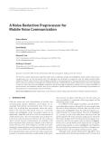 """Báo cáo hóa học: """"  A Noise Reduction Preprocessor for Mobile Voice Communication"""""""