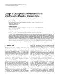 """Báo cáo hóa học: """"  Design of Ultraspherical Window Functions with Prescribed Spectral Characteristics"""""""