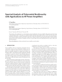 """Báo cáo hóa học: """" Spectral Analysis of Polynomial Nonlinearity with Applications to RF Power Amplifiers"""""""