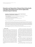 """Báo cáo hóa học: """"  Detection and Separation of Speech Event Using Audio and Video Information Fusion and Its Application to Robust Speech Interface"""""""