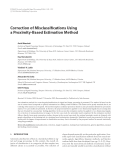 "Báo cáo hóa học: "" Correction of Misclassifications Using a Proximity-Based Estimation Method"""