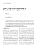 "Báo cáo hóa học: ""  Filtered-X Affine Projection Algorithms for Active Noise Control Using Volterra Filters"""