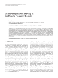"""Báo cáo hóa học: """" On the Compensation of Delay in the Discrete Frequency Domain"""""""