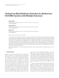 "Báo cáo hóa học: "" Timing-Free Blind Multiuser Detection for Multicarrier DS/CDMA Systems with Multiple Antennae"""