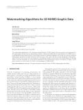 "Báo cáo hóa học: "" Watermarking Algorithms for 3D NURBS Graphic Data"""