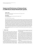 "Báo cáo hóa học: ""System-Level Performance of Antenna Arrays in CDMA-Based Cellular Mobile Radio Systems Andreas Czylwik"""