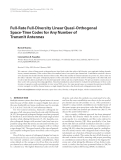 """Báo cáo hóa học: """" Full-Rate Full-Diversity Linear Quasi-Orthogonal Space-Time Codes for Any Number of Transmit Antennas"""""""