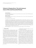 """Báo cáo hóa học: """" Vibrato in Singing Voice: The Link between Source-Filter and Sinusoidal Models"""""""