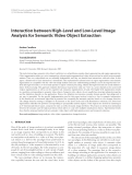 """Báo cáo hóa học: """"Interaction between High-Level and Low-Level Image Analysis for Semantic Video Object Extraction"""""""