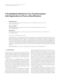 """Báo cáo hóa học: """"A Probabilistic Model for Face Transformation with Application to Person Identification"""""""