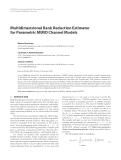 "Báo cáo hóa học: ""  Multidimensional Rank Reduction Estimator for Parametric MIMO Channel Models"""