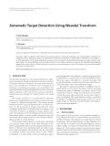 "Báo cáo hóa học: ""  Automatic Target Detection Using Wavelet Transform"""