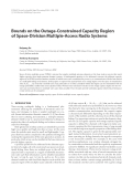 "Báo cáo hóa học: ""  Bounds on the Outage-Constrained Capacity Region of Space-Division Multiple-Access Radio Systems"""
