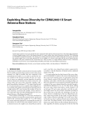 "Báo cáo hóa học: "" Exploiting Phase Diversity for CDMA2000 1X Smart Antenna Base Stations"""