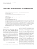 "Báo cáo hóa học: "" Optimization of Color Conversion for Face Recognition"""