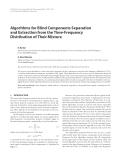 "Báo cáo hóa học: "" Algorithms for Blind Components Separation and Extraction from the Time-Frequency Distribution of Their Mixture"""