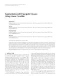 "Báo cáo hóa học: ""  Segmentation of Fingerprint Images Using Linear Classifier"""