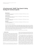 "Báo cáo hóa học: "" A Psychoacoustic ""NofM""-Type Speech Coding Strategy for Cochlear Implants"""