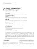 "Báo cáo hóa học: ""  DSP-Enabled Radio Astronomy: Towards IIIZW35 Reconquest"""