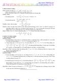 30 Đề thi thử đại học cao đẳng môn toán 2012