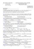 Đề thi thử đại học cao đẳng môn hóa học 2012_2
