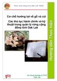 Các thủ tục hành chính và kỹ  thuật trong quản lý rừng cộng đồng tỉnh Dak Lak
