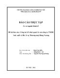 Đề tài báo cáo: Công tać tổ chưć quan̉ lý cuả công ty TNHH San̉ xuât́ và Dic̣h vụ Thương maị Hùng Vương
