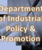 Department of Industrial Policy and Promotion Ministry of Commerce and Industry Government of India