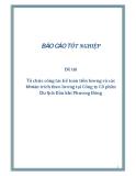 Đề tài: Tổ chức công tác kế toán tiền lương và các khoản trích theo lương tại Công ty Cổ phần Du lịch Dầu khí Phương Đông