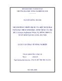 Luận văn thạc sĩ nông nghiệp: Thành phần thiên địch của rệp muội hại ngô, đặc điểm sinh học, sinh thái của bọ rùa Scymnus hoffmanni Weise vụ Đông 2009 và Xuân 2010 tại Gia Lâm,Hà Nội