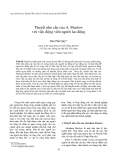 Thuyết nhu cầu của A. Maslow  với việc động viên người lao động