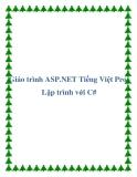 Giáo trình ASP.NET Tiếng Việt Pro-Lập trình với C#