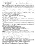 ĐỀ THI THỬ TUYỂN SINH ĐẠI HỌC NĂM 2012 VẬT LÍ KHỐI A (BỘ GIÁO DỤC VÀ ĐÀO TẠO CỤC KHẢO THÍ VÀ KĐCL - ĐỀ SỐ 8)