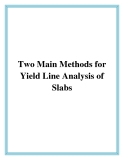 Two Main Methods for Yield Line Analysis of Slabs