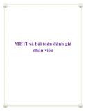 MBTI và bài toán đánh giá nhân viên