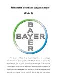 Hành trình đến thành công của Bayer