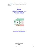 Bài tập Vật lý nguyên tử và hạt nhân