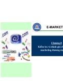 Chương 8: Kiếm tra và đánh giá chương trình marketing thương mại