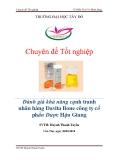 Luận văn: Đánh giá khả năng cạnh tranh nhãn hàng Davita Bone công ty dược phẩm Hậu Giang