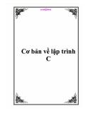 Cơ bản về lập trình C