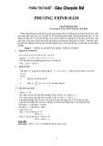 Các chuyên đề phương trình hàm
